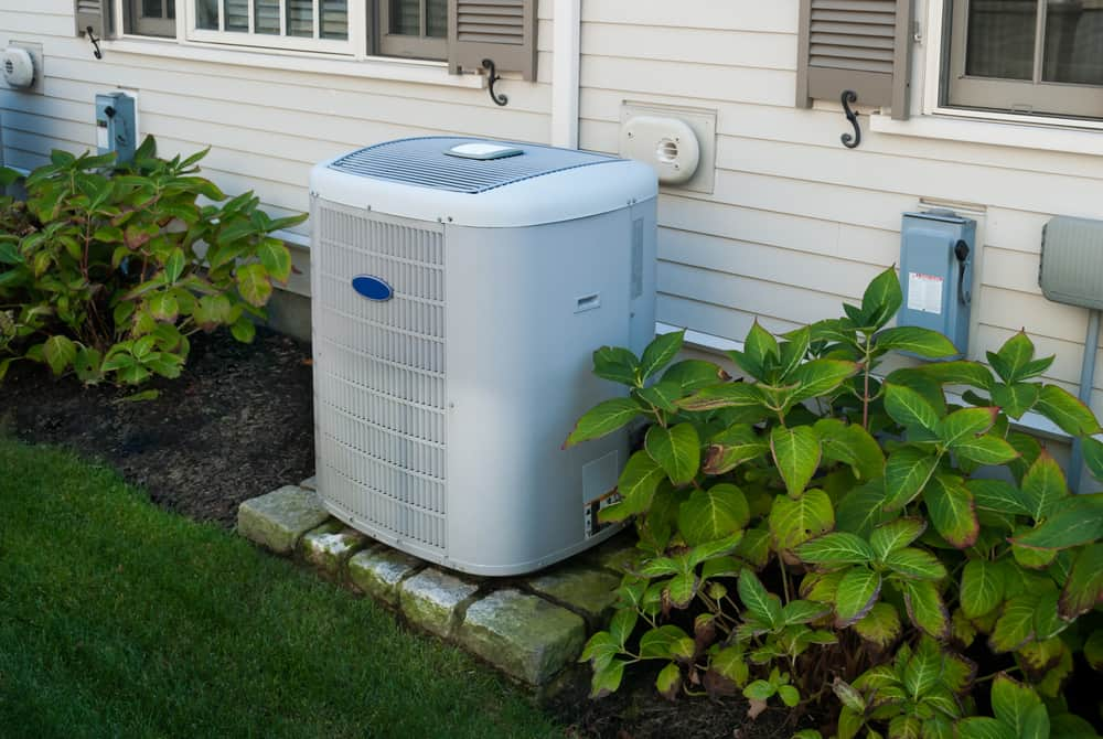 Heating,And,Air,Conditioning,Inverter,On,The,Side,Of,A